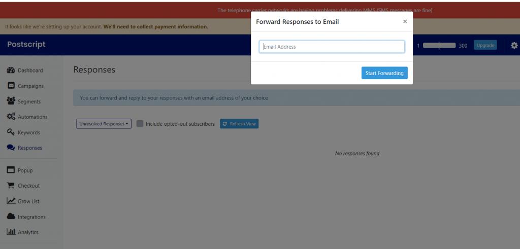 Postscript add Richpanel forwarding address